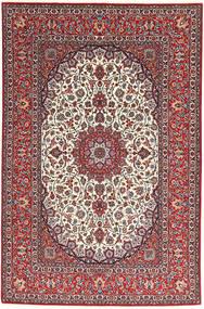 Isfahan Silkerenning Teppe 155X240 Ekte Orientalsk Håndknyttet Mørk Rød/Lys Grå (Ull/Silke, Persia/Iran)