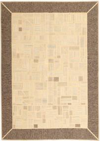 Kelim Patchwork Teppe 169X239 Ekte Moderne Håndvevd Beige/Brun (Ull, Persia/Iran)