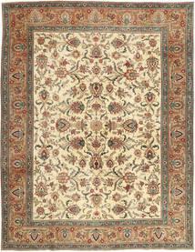 Tabriz Patina Teppe 302X390 Ekte Orientalsk Håndknyttet Brun/Mørk Beige Stort (Ull, Persia/Iran)