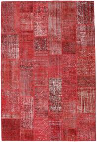Patchwork Teppe 204X302 Ekte Moderne Håndknyttet Mørk Rød/Rød (Ull, Tyrkia)