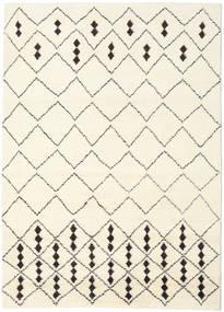 Berber Indisk - Off-Vit/Svart Teppe 210X290 Ekte Moderne Håndknyttet Beige/Hvit/Creme (Ull, India)
