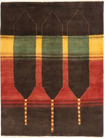Gabbeh Persia Teppe 150X197 Ekte Moderne Håndknyttet Mørk Brun/Rust (Ull, Persia/Iran)
