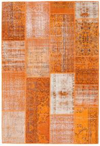 Patchwork Teppe 162X237 Ekte Moderne Håndknyttet Orange/Lyserosa (Ull, Tyrkia)