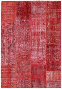 Patchwork Teppe 160X230 Ekte Moderne Håndknyttet Rød/Rust (Ull, Tyrkia)
