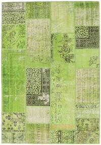 Patchwork Teppe 161X232 Ekte Moderne Håndknyttet Lysgrønn/Grønn (Ull, Tyrkia)
