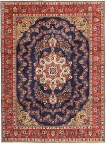 Tabriz Teppe 253X340 Ekte Orientalsk Håndknyttet Mørk Lilla/Mørk Rød Stort (Ull, Persia/Iran)