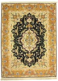 Tabriz 70Raj Silke Varp Teppe 152X205 Ekte Orientalsk Håndknyttet (Ull/Silke, Persia/Iran)