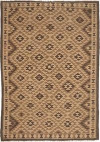 Kelim Maimane Teppe 162X232 Ekte Orientalsk Håndvevd Brun/Lysbrun (Ull, Afghanistan)