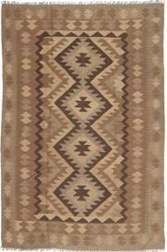 Kelim Maimane Teppe 193X295 Ekte Orientalsk Håndvevd Brun/Lysbrun (Ull, Afghanistan)