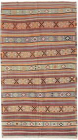 Kelim Tyrkiske Teppe 166X295 Ekte Orientalsk Håndvevd Lys Grå/Mørk Rød (Ull, Tyrkia)