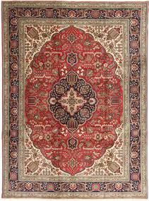 Tabriz Teppe 253X343 Ekte Orientalsk Håndknyttet Mørk Brun/Brun Stort (Ull, Persia/Iran)
