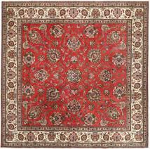 Tabriz Patina Teppe 290X292 Ekte Orientalsk Håndknyttet Kvadratisk Mørk Brun/Rust Stort (Ull, Persia/Iran)