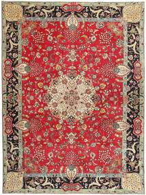 Tabriz Patina Signert: Bradaran Teppe 283X385 Ekte Orientalsk Håndknyttet Mørk Rød/Mørk Brun Stort (Ull, Persia/Iran)