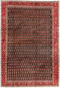 Arak Teppe 199X290 Ekte Orientalsk Håndknyttet Mørk Brun/Mørk Rød (Ull, Persia/Iran)