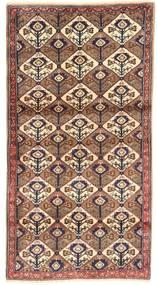 Koliai Teppe 100X187 Ekte Orientalsk Håndknyttet Brun/Mørk Rød/Beige (Ull, Persia/Iran)