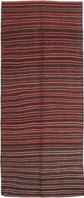 Kelim Fars Teppe 143X360 Ekte Orientalsk Håndvevd Teppeløpere Mørk Brun/Mørk Rød (Ull, Persia/Iran)