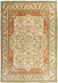 Tabriz Patina Teppe 270X379 Ekte Orientalsk Håndknyttet Mørk Beige/Beige/Lysbrun Stort (Ull, Persia/Iran)