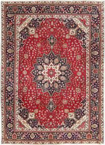 Tabriz Patina Teppe 250X344 Ekte Orientalsk Håndknyttet Mørk Rød/Mørk Brun Stort (Ull, Persia/Iran)
