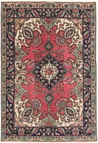 Tabriz Patina Teppe 142X204 Ekte Orientalsk Håndknyttet Mørk Brun/Mørk Rød (Ull, Persia/Iran)