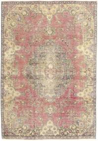 Colored Vintage Teppe 184X264 Ekte Moderne Håndknyttet Beige/Lys Grå (Ull, Persia/Iran)