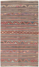 Kelim Tyrkiske Teppe 163X280 Ekte Orientalsk Håndvevd Mørk Grå/Brun (Ull, Tyrkia)
