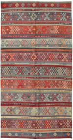 Kelim Tyrkiske Teppe 162X313 Ekte Orientalsk Håndvevd Mørk Rød/Mørk Grå (Ull, Tyrkia)