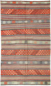 Kelim Tyrkiske Teppe 171X295 Ekte Orientalsk Håndvevd Mørk Rød/Lys Grå (Ull, Tyrkia)