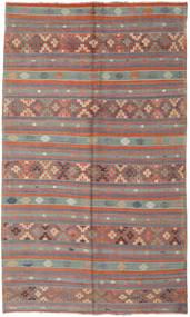 Kelim Tyrkiske Teppe 180X305 Ekte Orientalsk Håndvevd Brun/Mørk Brun (Ull, Tyrkia)