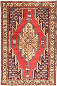 Hamadan Teppe 126X200 Ekte Orientalsk Håndknyttet Mørk Brun/Mørk Rød (Ull, Persia/Iran)