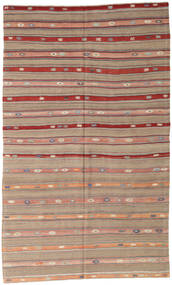 Kelim Tyrkiske Teppe 162X274 Ekte Orientalsk Håndvevd Lys Grå/Brun/Lysbrun (Ull, Tyrkia)