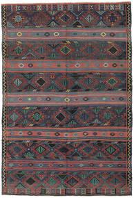 Kelim Tyrkiske Teppe 168X250 Ekte Orientalsk Håndvevd Mørk Grå/Mørk Rød (Ull, Tyrkia)
