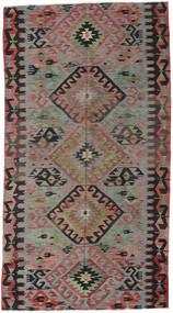 Kelim Tyrkiske Teppe 163X300 Ekte Orientalsk Håndvevd Mørk Grå/Mørk Rød (Ull, Tyrkia)
