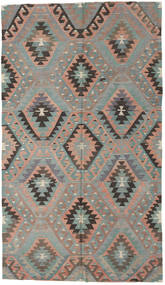 Kelim Tyrkiske Teppe 176X307 Ekte Orientalsk Håndvevd Lys Grå/Mørk Brun (Ull, Tyrkia)