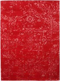 Orient Express - Rød Teppe 210X290 Ekte Moderne Håndknyttet Rød/Rust (Ull/Bambus Silke, India)