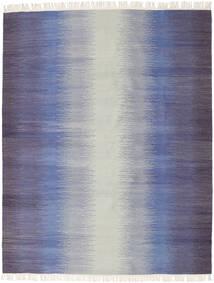 Ikat - Mørk Blå Teppe 190X240 Ekte Moderne Håndvevd Lys Grå/Lilla (Ull, India)