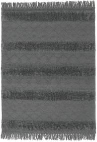 Kelim Berber Ibiza - Soft Grå Teppe 140X200 Ekte Moderne Håndvevd Svart/Blå (Ull, India)