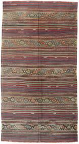 Kelim Tyrkiske Teppe 161X305 Ekte Orientalsk Håndvevd Mørk Rød/Lys Grå (Ull, Tyrkia)