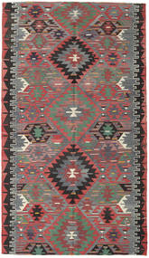 Kelim Tyrkiske Teppe 166X290 Ekte Orientalsk Håndvevd Lys Grå/Mørk Rød (Ull, Tyrkia)