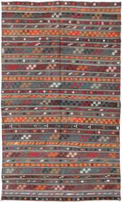 Kelim Tyrkiske Teppe 180X303 Ekte Orientalsk Håndvevd Mørk Rød/Mørk Grå (Ull, Tyrkia)