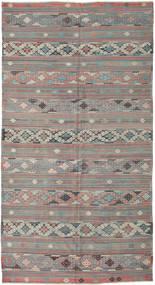 Kelim Tyrkiske Teppe 168X314 Ekte Orientalsk Håndvevd Lys Grå/Mørk Grønn (Ull, Tyrkia)