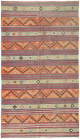 Kelim Tyrkiske Teppe 162X290 Ekte Orientalsk Håndvevd Mørk Rød/Lys Grå (Ull, Tyrkia)