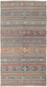 Kelim Tyrkiske Teppe 164X301 Ekte Orientalsk Håndvevd Lys Grå/Rosa (Ull, Tyrkia)