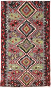 Kelim Tyrkiske Teppe 162X282 Ekte Orientalsk Håndvevd Mørk Rød/Mørk Brun (Ull, Tyrkia)