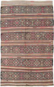 Kelim Tyrkiske Teppe 173X290 Ekte Orientalsk Håndvevd Lys Grå/Mørk Grå (Ull, Tyrkia)