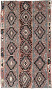 Kelim Tyrkiske Teppe 160X267 Ekte Orientalsk Håndvevd Mørk Grå/Mørk Grønn (Ull, Tyrkia)