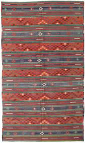 Kelim Tyrkiske Teppe 170X296 Ekte Orientalsk Håndvevd Mørk Rød/Mørk Grønn (Ull, Tyrkia)