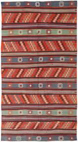 Kelim Tyrkiske Teppe 170X314 Ekte Orientalsk Håndvevd Mørk Rød/Svart (Ull, Tyrkia)
