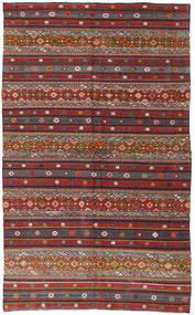 Kelim Tyrkiske Teppe 168X280 Ekte Orientalsk Håndvevd Mørk Rød/Mørk Grå (Ull, Tyrkia)