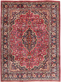 Mashad Teppe 243X324 Ekte Orientalsk Håndknyttet Mørk Brun/Mørk Rød (Ull, Persia/Iran)