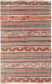 Kelim Tyrkiske Teppe 164X258 Ekte Orientalsk Håndvevd Lys Grå/Lysbrun (Ull, Tyrkia)